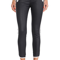 7 For All Mankind Sportif Crop Pant in Black