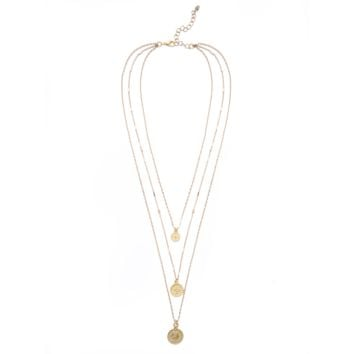 MOD + JO - *Pendant Necklace - Gold Coin Layered