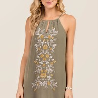 Celeste Embroidered Shift Dress