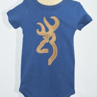 Boys Browning Onsie by Mandy Lou { Navy}