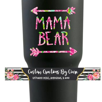 Mama Bear Lilly Decal, Mommy, Mom Sticker , Lilly car decal, Lilly Yeti decal Custom Decal, Mommy Sticker, Momma Decal, Yeti Decal