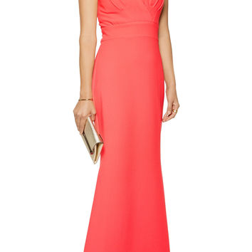 Pleated crepe gown | Badgley Mischka | US | THE OUTNET