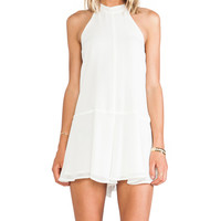 BCBGeneration Mock Neck Romper in Ivory