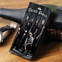 Five Finger Death Punch custom wallet case for iphone 4/4s 5 5s 5c 6 6plus case and samsung galaxy s3 s4 s5 s6 case