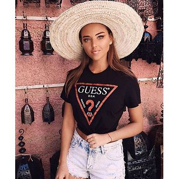 """Guess""Hot letters print T-shirt 4 colors"