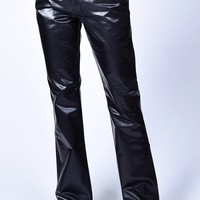 Deadstock Nicole Pleather Flare Pants