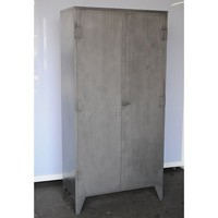 Twenty Gauge Cabinet- steel - Salvage Furniture - Store Vintage Steel Furniture