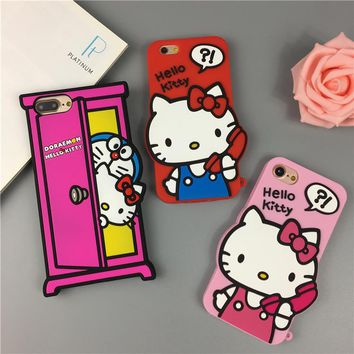 Cute Cartoon Soft Silicone Full Package Protection Cover For IPhone 6 6S 6plus 6s plus 7 7plus 8 8plus