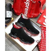 shosouvenir christian louboutin[CL] Increase Comfortable Rivet Daddy Sports Shoes