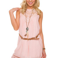 Gillian Lace Dress - Rose