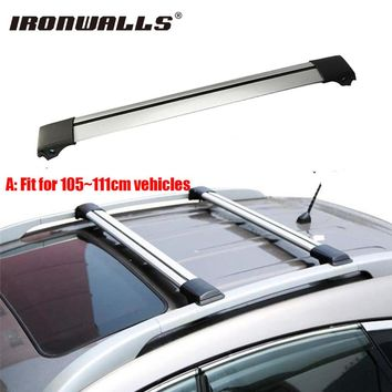 Ironwalls 1x Car Roof Rack Cross Bar 105~111cm Top Luggage Cargo Carrier w/ Anti-theft Lock System 150LBS For Nissan Honda Ford