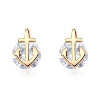 Anchor And Diamond Fashion Earrings