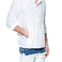 HOODED LINEN SHIRT - Casual - Shirts - Man - ZARA United States