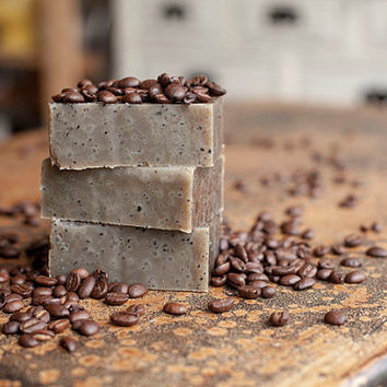 Organic Coffee Soap Bars by EnchantedPrimitives on Etsy