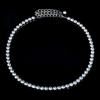 Rhinestone Metal Waist Chain Fashion Belt