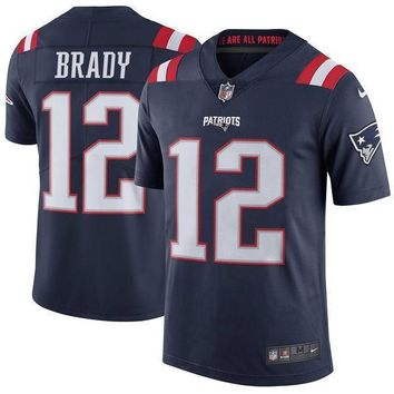 Men's New England Patriots Tom Brady Nike Navy Vapor Untouchable Color Rush Limited Player Jersey