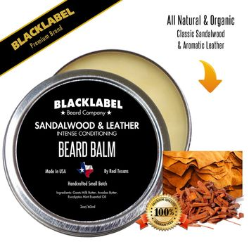 Sandalwood & Leather Styling Beard Balm | Premium All Natural Beard Balm
