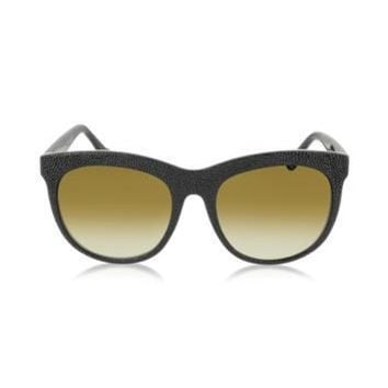 Balenciaga Designer Sunglasses BA0024 04F Black Rubber & Acetate Cat Eye Sunglasses