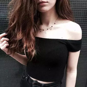 New Hot Fashion Womens Casual Blouse Short Foever21 Like Sleeve Shirt T shirt Summer Blouse Tops = 4724060484