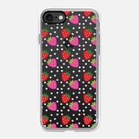 Kawaii Strawberries iPhone 7 Case by Nina May Designs | Casetify