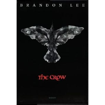 Crow Movie poster Metal Sign Wall Art 8in x 12in