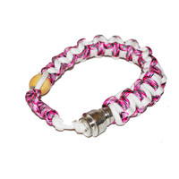 Bracelet Armband Hidden Stealth Pipe - Pink White Red