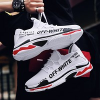 OFF-WHITE 2018 tide shoes wild men's sports shoes old shoes F0809-1 White