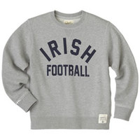 F1437C1 French Terry Youth Crew S-XL | University Of Notre Dame
