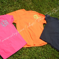 Monogram T-Shirt Custom Sassy Glitter Tee Shirt Sparkle like Diamonds Monogrammed Tee Short Sleeve T-Shirt Bride Bridesmaid Monogram Gifts