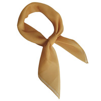 Gold Retro Chiffon Scarves