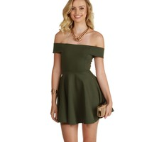 Olive Leading Lady Skater Dress