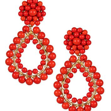 Margo Earrings in Red