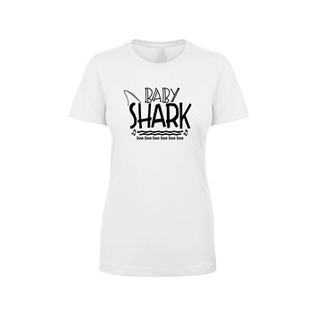 Shark Family Cotton Blend Tee By Pink Box - Baby Shark
