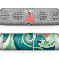 The Vector Retro Green Waves Skin for the Beats by Dre Pill Bluetooth Speaker