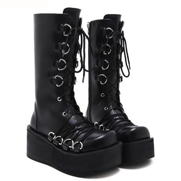 Goth Stomper Platform Boots - 3 Style Options!
