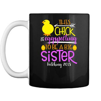 Funny Easter Pregnancy Announcement T Shirt Big Sister Mug