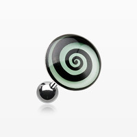 Glow in the Dark Hypnotic Swirl Cartilage Earring