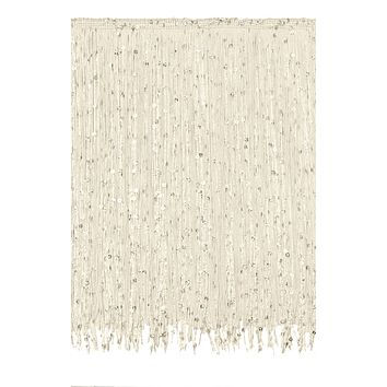 11 Yard Value Pack of 12 Inch Chainette Sequin Fringe Trim, CFS12 Color: Ivory (Off White) - OW (32.5 Feet / 10M)