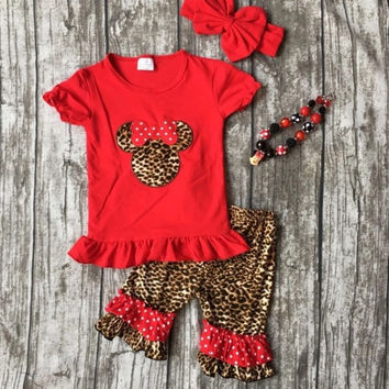 Minnie Mouse Leopard Outfit
