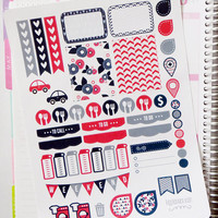 Summer Breeze Weekly Spread Planner Stickers for Erin Condren Planner, Filofax, Plum Paper
