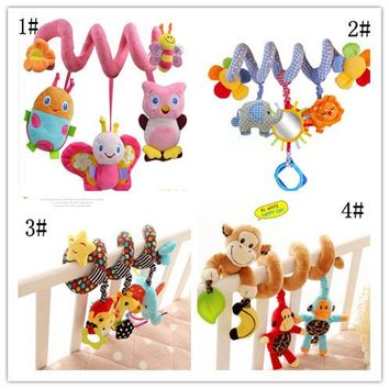 4 Styles Musical Car/bed/crib Hanging Bell Newborn Baby Educational  Rattles/Mobile toys for Baby 0-12 months Plush Product