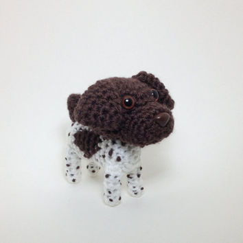 German Shorthaired Pointer Amigurumi stuffed dog crochet animal puppy plush doll / Made to Order