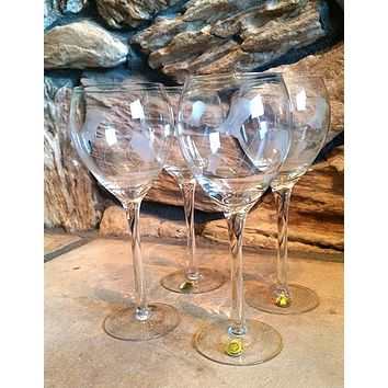 Etched Stemware  S/2