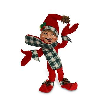 Annalee Dolls 5in 2018 Christmas Northwoods Elf Red Plush New with Tags