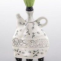 Lace Collar Teapot by Laura Peery: Ceramic Teapot | Artful Home