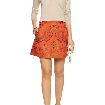 Alice + Olivia Loran jacquard mini skirt – 50% at THE OUTNET.COM