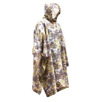 3 in 1 Multifunctional Outdoor Camouflage Raincoat Poncho Backpack Rain Cover Waterproof Tent Mat Awning Climbing Camping Hiking