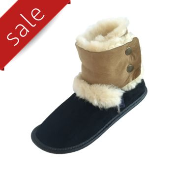 Women's Sheepskin Boot Slippers - 210