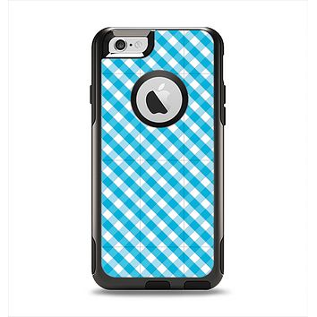 The Subtle Blue & White Plaid Apple iPhone 6 Otterbox Commuter Case Skin Set