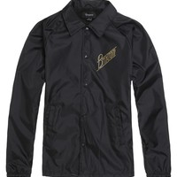 Brixton Wilson Windbreaker Jacket - Mens Jacket - Black